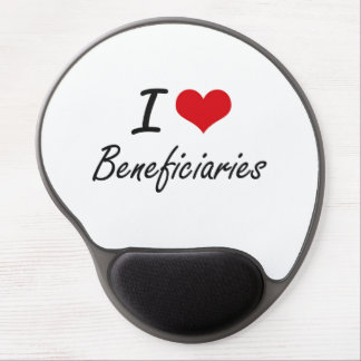I Love Beneficiaries Artistic Design Gel Mouse Pad