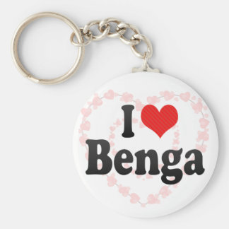 I Love Benga Keychain