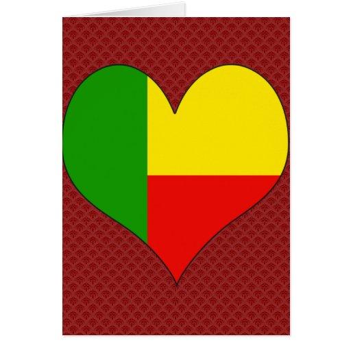 I Love Benin Greeting Card
