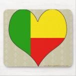 I Love Benin Mouse Pad