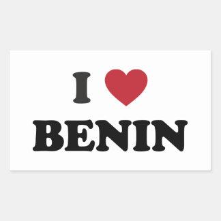I Love Benin Rectangular Sticker