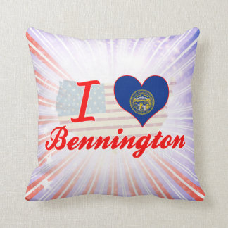 I Love Bennington, Nebraska Pillow