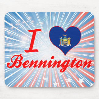 I Love Bennington, New York Mouse Pad