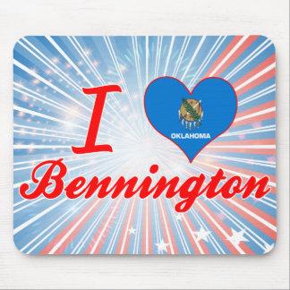 I Love Bennington, Oklahoma Mouse Pad