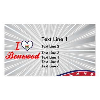 I Love Benwood, West Virginia Double-Sided Standard Business Cards (Pack Of 100)