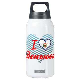 I Love Benwood, West Virginia 10 Oz Insulated SIGG Thermos Water Bottle