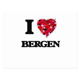 I love Bergen New Jersey Postcard