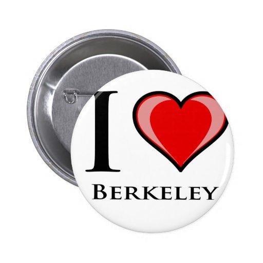 I Love Berkeley 2 Inch Round Button