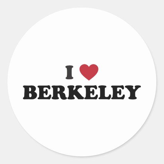 I Love Berkeley California Classic Round Sticker