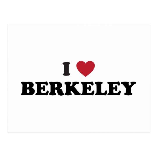 I Love Berkeley California Postcard