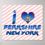 I love Berkshire, New York Print