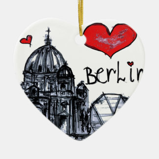 I love Berlin Ceramic Ornament