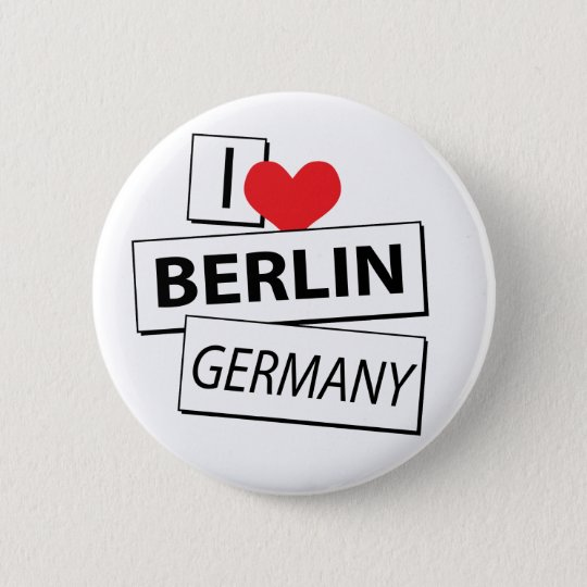 I Love Berlin Germany Pinback Button