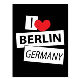 I Love Berlin Germany Post Card