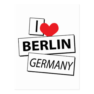 I Love Berlin Germany Postcards