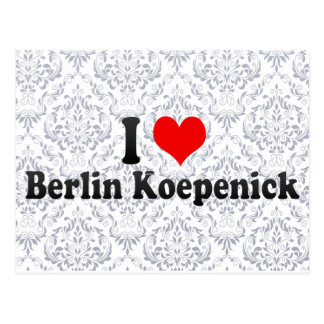 I Love Berlin Koepenick, Germany Postcards