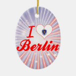 I Love Berlin, Massachusetts Christmas Ornaments
