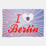 I Love Berlin, Massachusetts Towels