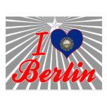 I Love Berlin, New Hampshire Postcard