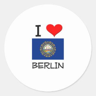 I Love Berlin New Hampshire Round Sticker