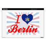 """I Love Berlin, New York Decals For 15"""" Laptops"""