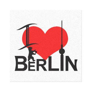 i Love Berlin picture Canvas Print
