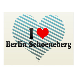 I Love Berlin Schoeneberg, Germany Postcards