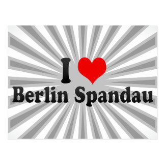 I Love Berlin Spandau, Germany Post Cards