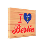 I Love Berlin, Wisconsin Gallery Wrapped Canvas