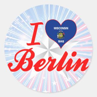 I Love Berlin, Wisconsin Classic Round Sticker