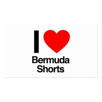 i love bermuda shorts business card templates