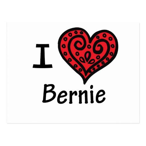 I Love Bernie Postcard