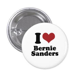 I Love Bernie Sanders for President 1 Inch Round Button