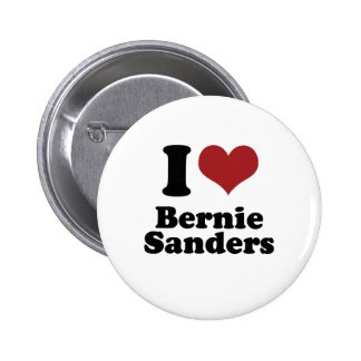 I Love Bernie Sanders for President 2 Inch Round Button