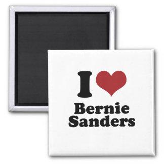 I Love Bernie Sanders for President 2 Inch Square Magnet