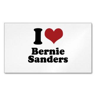 I Love Bernie Sanders for President Magnetic Business Cards (Pack Of 25)