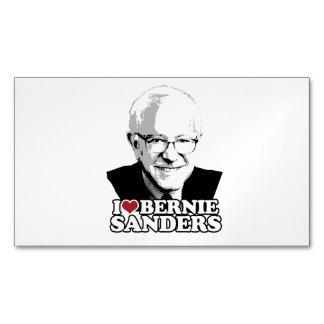 I Love Bernie Sanders Forever Magnetic Business Cards (Pack Of 25)