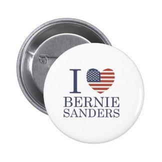 I Love Bernie Sanders Pinback Button