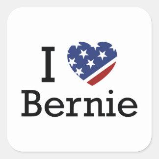 I Love Bernie Square Sticker
