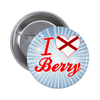 I Love Berry, Alabama Pinback Button