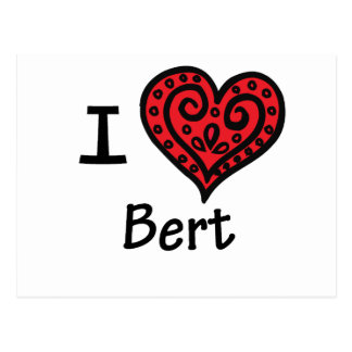 I Love Bert (I Heart Bert) Postcard
