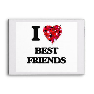 I Love Best Friends Envelope