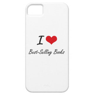 I Love Best-Selling Books Artistic Design iPhone 5 Covers