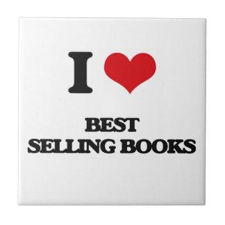 I Love Best-Selling Books Ceramic Tile