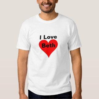 I Love Beth Tee Shirt