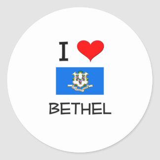 I Love Bethel Connecticut Round Stickers