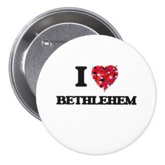 I Love Bethlehem 3 Inch Round Button