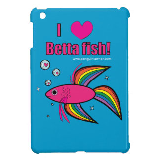 I Love Betta Fish iPad Mini Cover