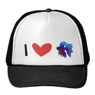 I Love Betta Fish / Siamese Fighting Fish Trucker Hat