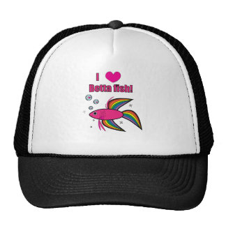 I Love Betta Fish Trucker Hat